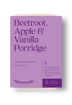 Mamamade Beetroot, Apple & Vanilla Porridge For Babies and Toddlers