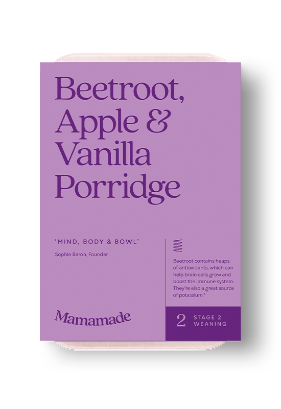 Mamamade Beetroot, Apple & Vanilla Organic Porridge For Babies