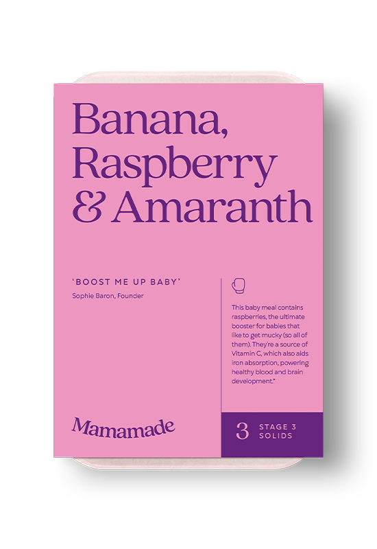 Mamamade Banana, Raspberry & Amaranth Frozen Meal For Babies and Toddlers
