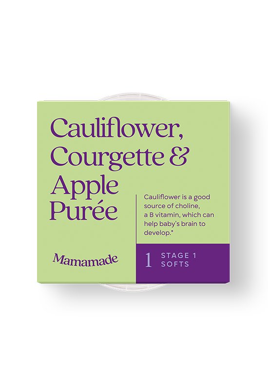 Mamamade Organic Cauliflower, Courgette & Apple Purée for Babies