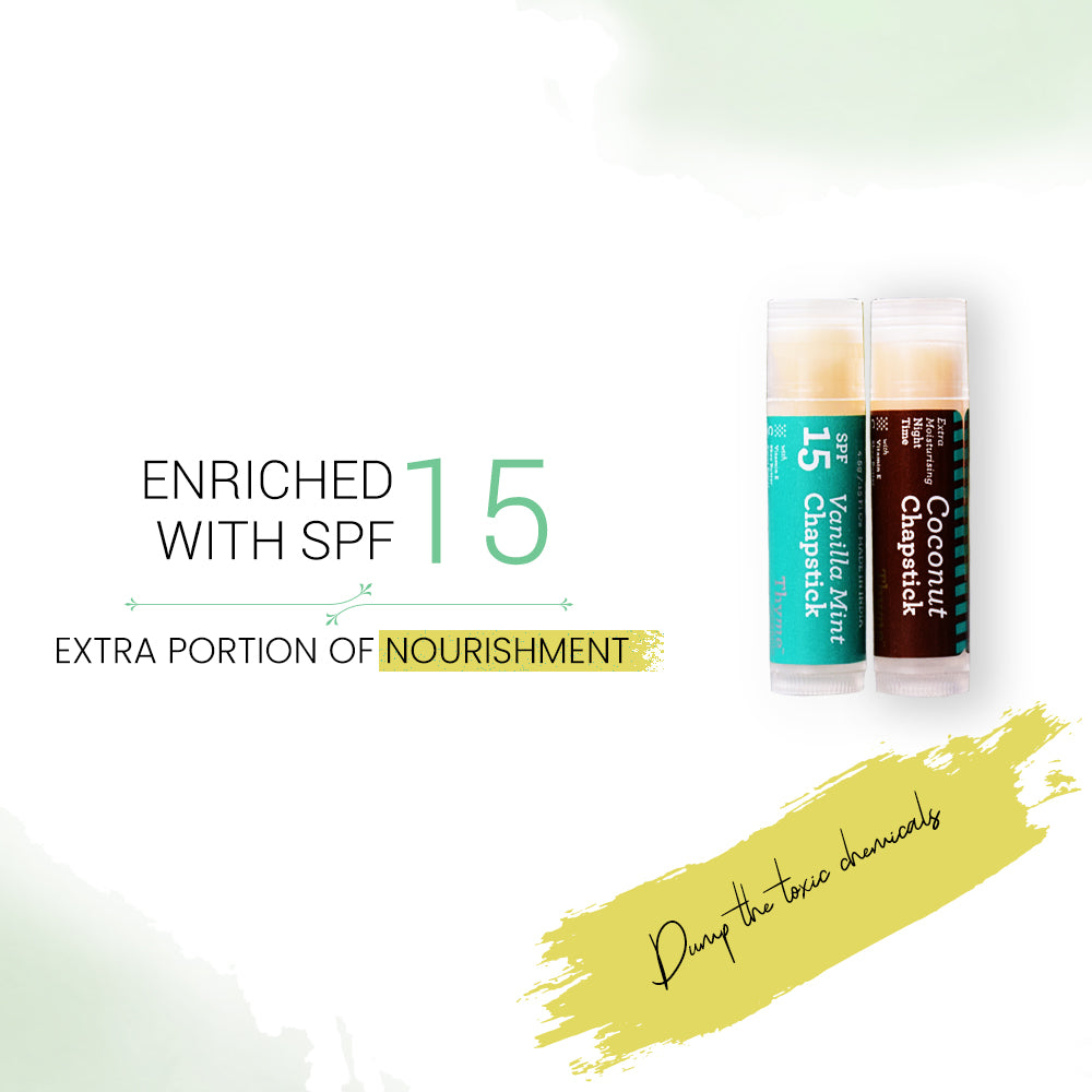 Chapstick-Day with SPF15 & Night with Extra Moisturising (Pack of 2 x 4.5 gms)