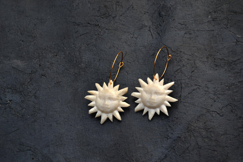 Sun Face, Lightweight Hoop Earrings - Sophie Filomena