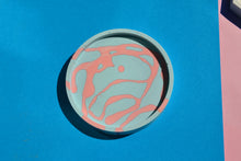 Load image into Gallery viewer, Pink And Blue Scribble Trinket Dish, Circle