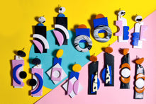 Load image into Gallery viewer, Geometric Sunflower Collage Earrings, One Off Make - Sophie Filomena