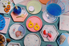 Load image into Gallery viewer, Pink And Blue Scribble Trinket Dish, Circle - Sophie Filomena