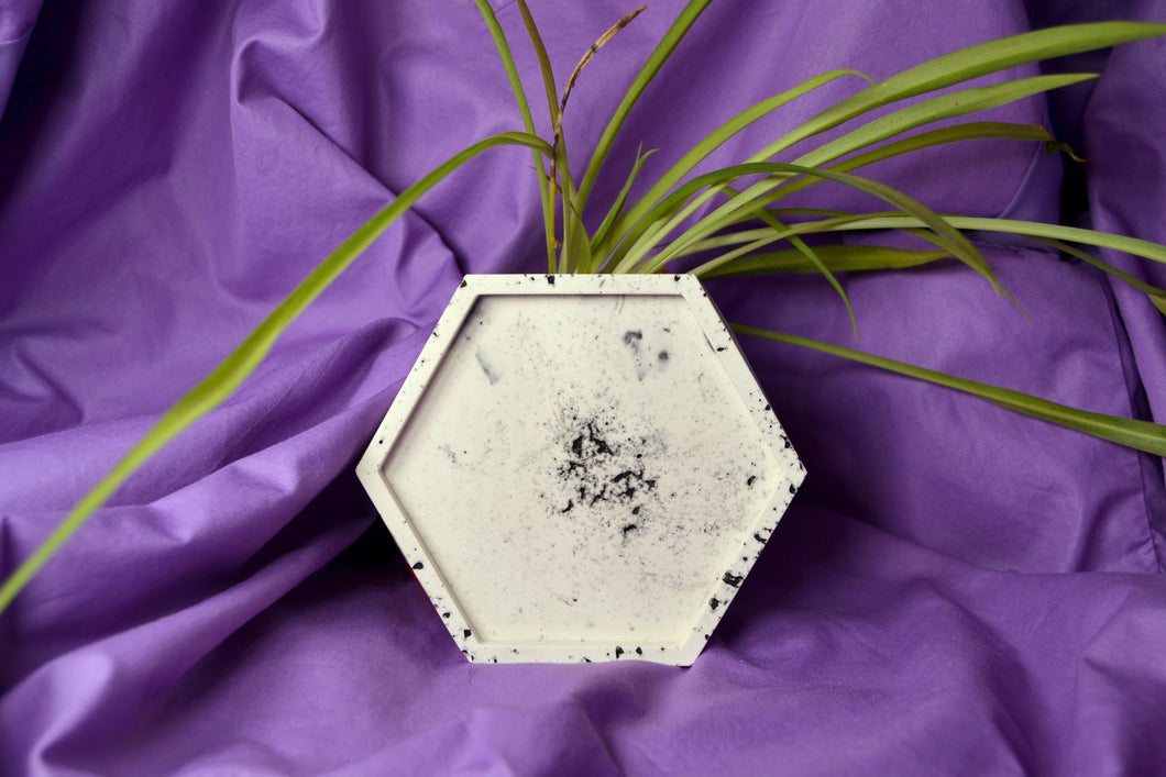Granite Trinket Dish, Hexagon - Sophie Filomena