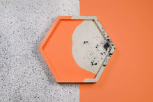 Load image into Gallery viewer, Granite and Coral Trinket Dish, Hexagon - Sophie Filomena