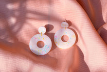Load image into Gallery viewer, Translucent Candy Sprinkle Circle Earrings