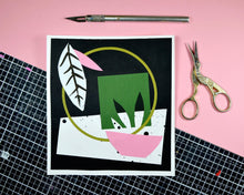 Load image into Gallery viewer, GARDEN II - Abstract Paper Collage Original, A5 Paper Floral Memphis Milano 80s Inspired Geometric Pink Green