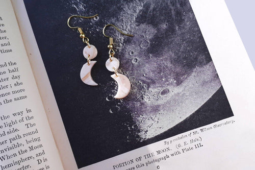Mini Clay Moon Dangles - Sophie Filomena