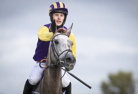Princess Zoe and Finny Maguire after they had won the 2020 Connacht Hotel Qualified Riders Handicap