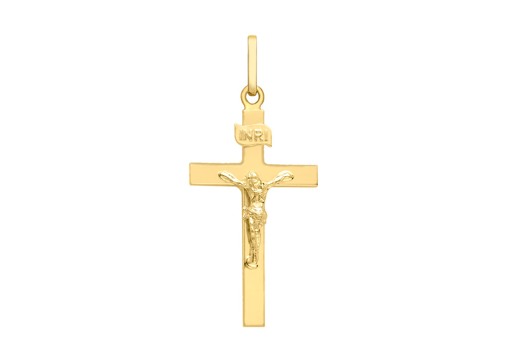 9 Ct Gold Polished Crucifix Pendant