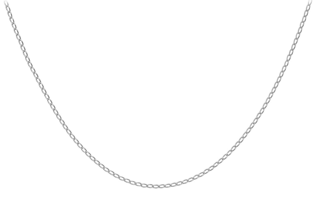 9 Ct. White Gold Open Curb Chain