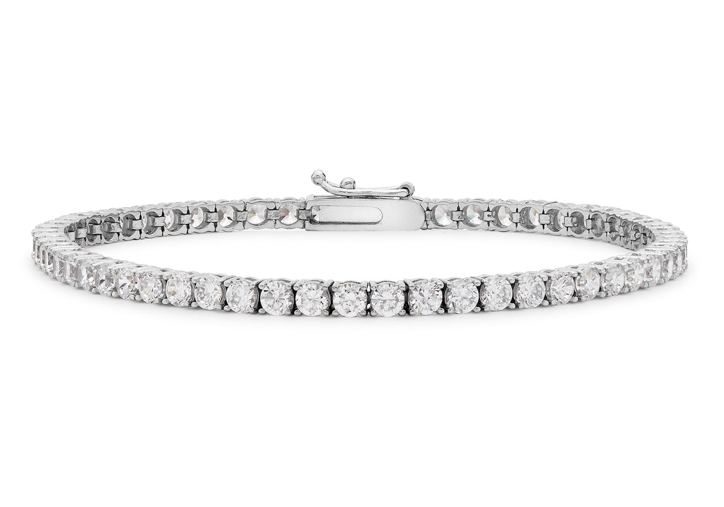 9 Ct. White Gold Round Cz Tennis Bracelet