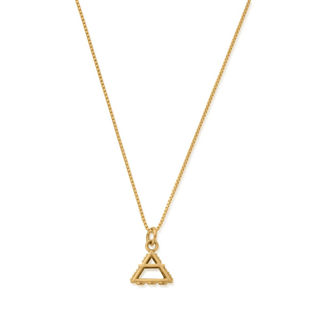 Delicate Box Chain Air Necklace gold plate