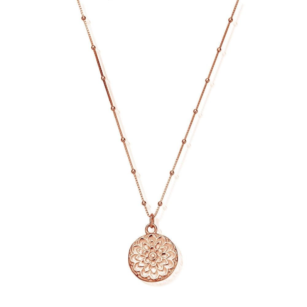 ChloBo Bobble Chain Moon Flower Necklace
