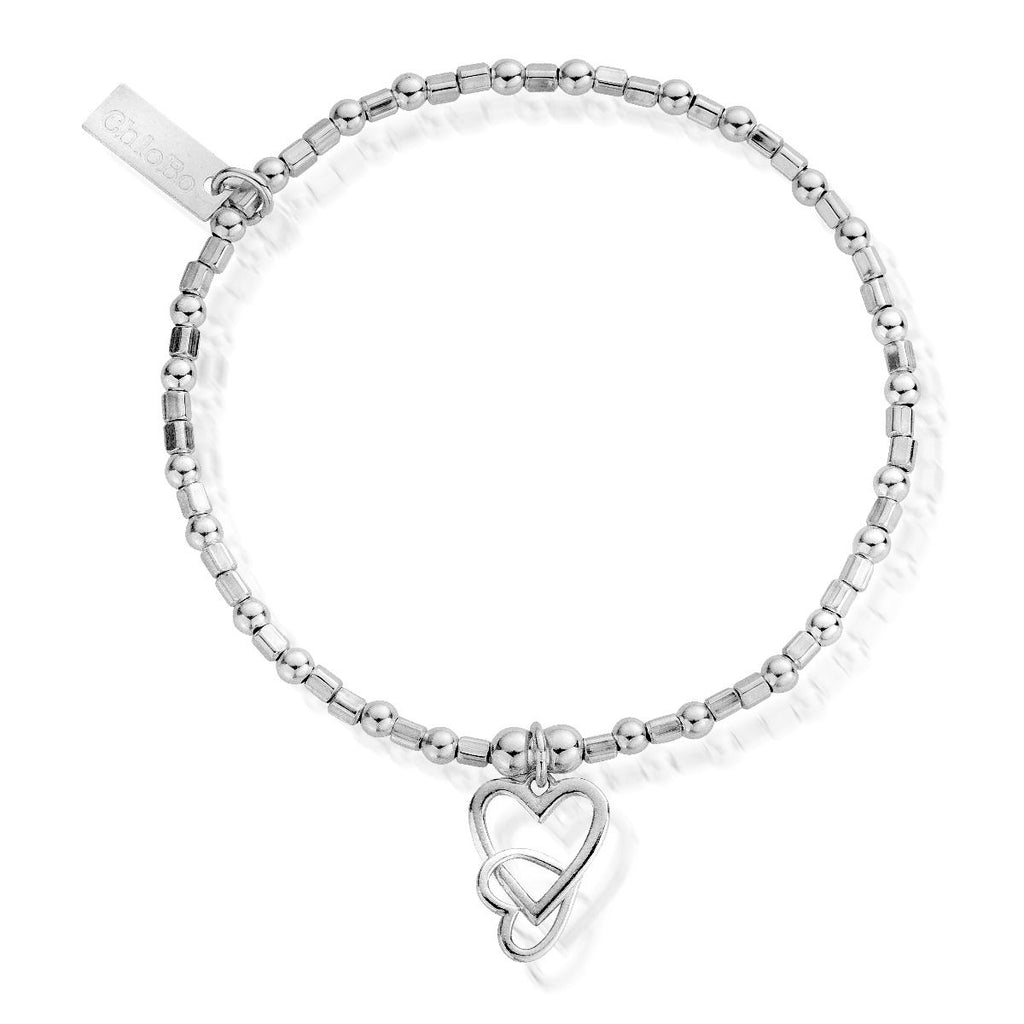 Mini Cube Interlocking Love Heart Bracelet