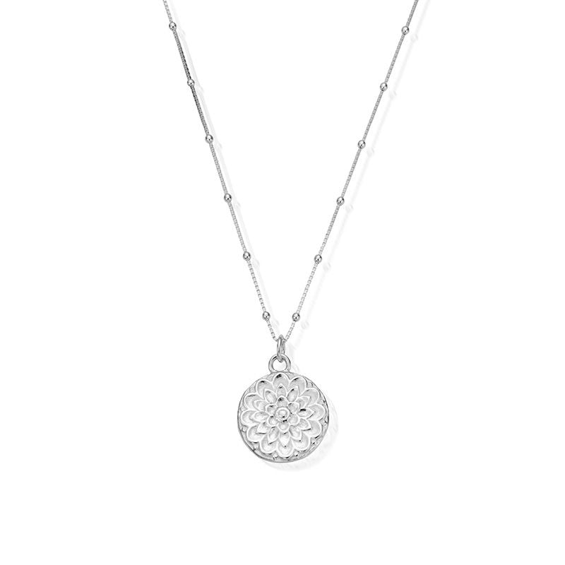Bobble Chain Moon Flower Necklace