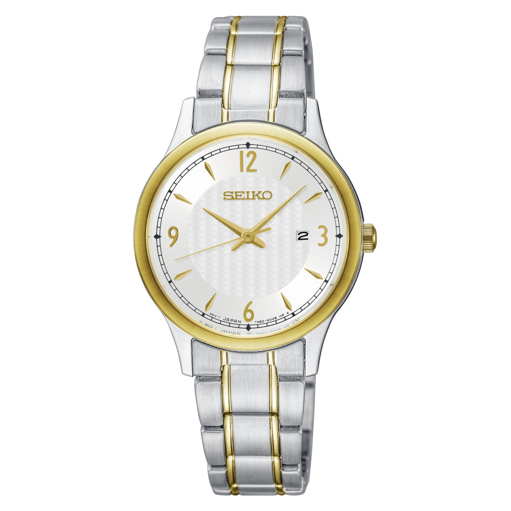 Seiko Classic Silver Dial Two Tone Ladies Watch
