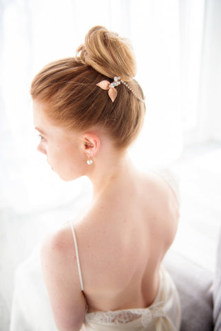 """Alicia"" bridal hairpiece"