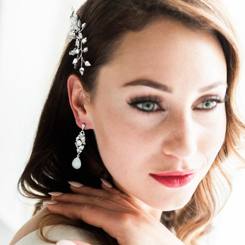 Alex Silver and Crystal Earrings