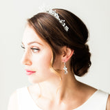 Swarovski Crystal Bridal earrings in silver