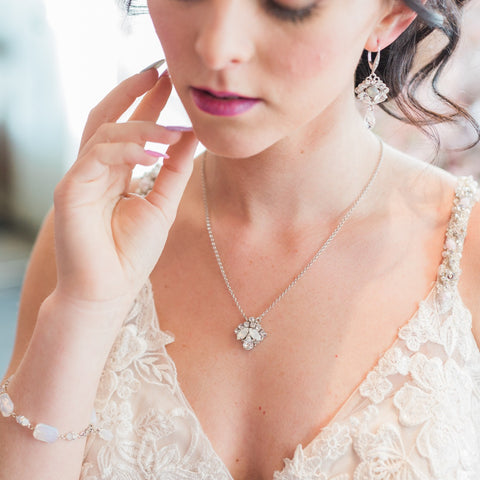 Jillian Swarovski Crystal Wedding Necklace