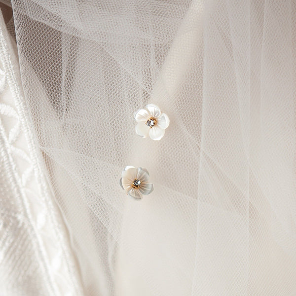 Brooklyn Mother of Pearl Bridal Earrings