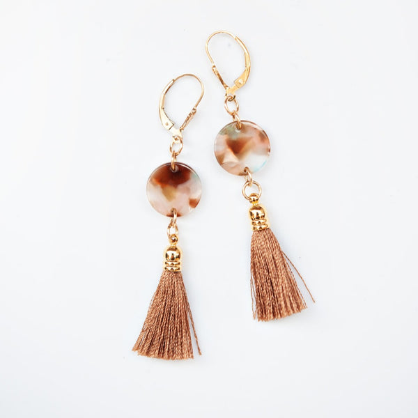Aspen Rust Tassel Earrings
