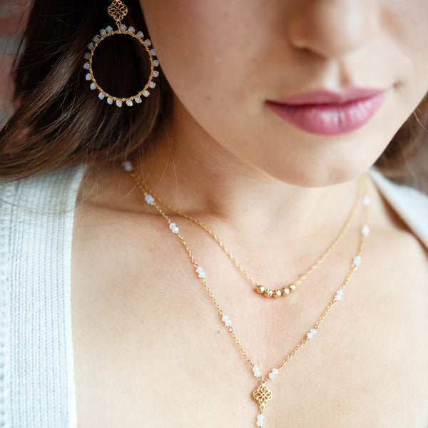 Whitby Gold Nugget Layering Necklace