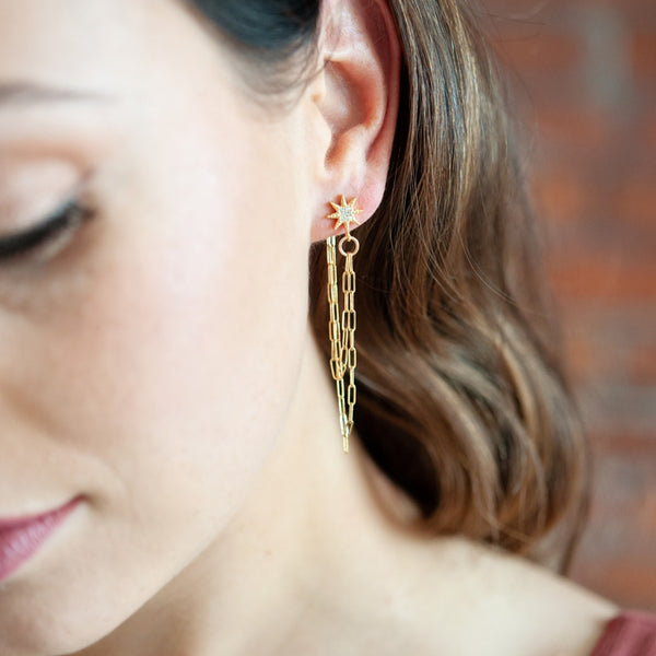 Alayne Gold Chain Earrings