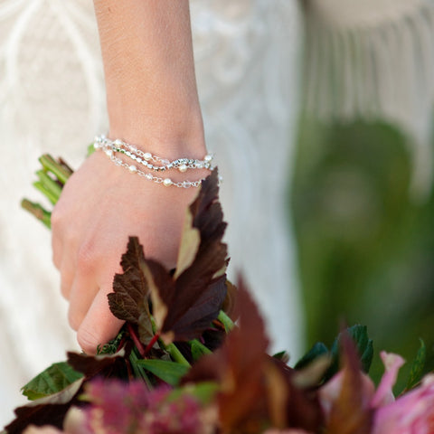 Nicola Pearl and Crystal Bracelet