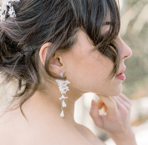Meg Floral Bridal Earrings