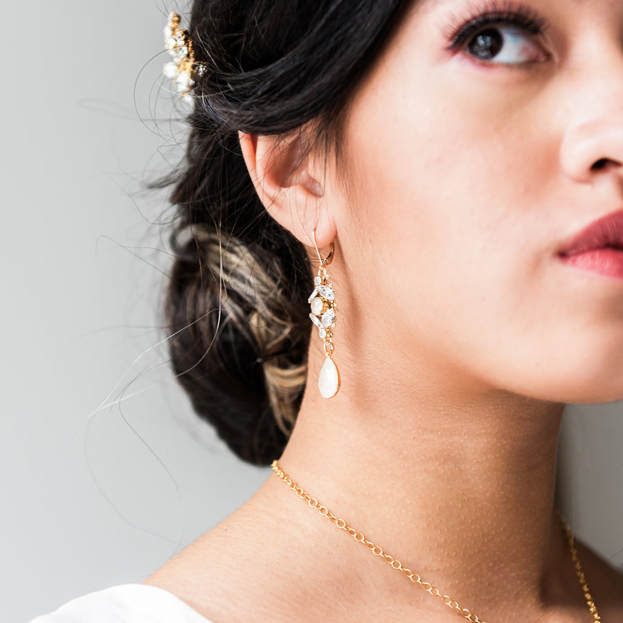 Alex - 14kt Goldfill and Crystal Bridal Earrings