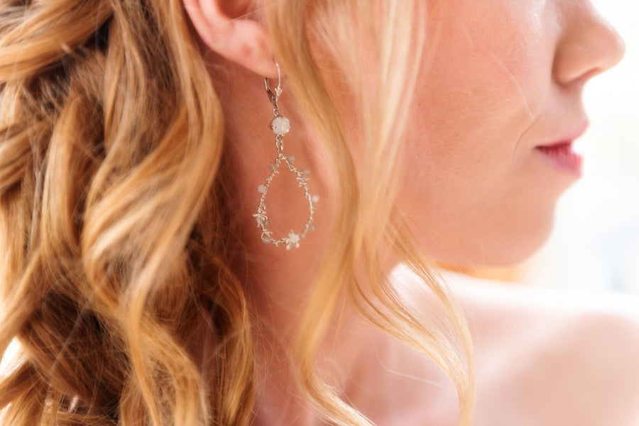 Emery Swarovski Crystal Teardrop Earrings