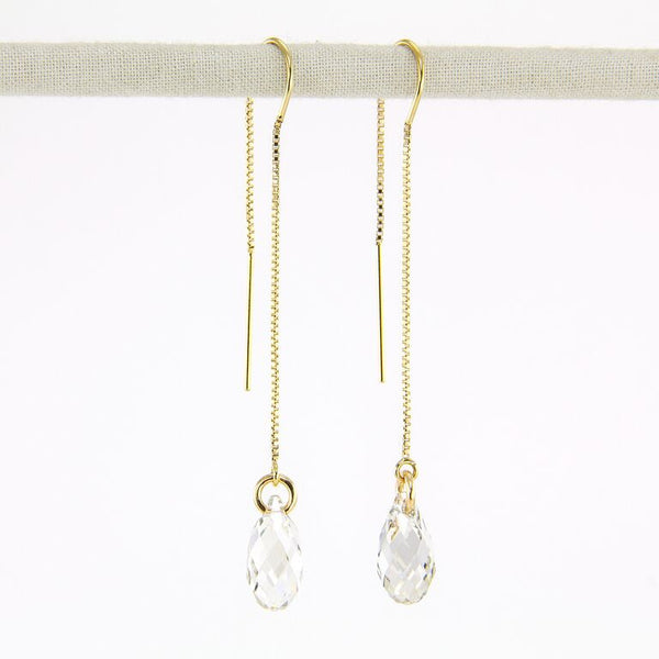 Swarovski Crystal bridal earrings gold