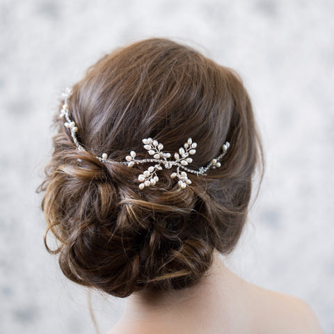 Diana Pearl and Crystal Bridal Hairvine sample sale