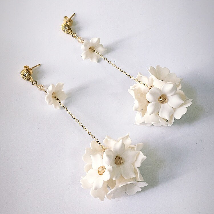 Elle Flower Bridal  Earrings