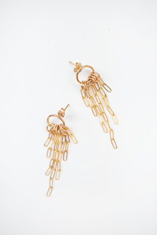 Devon 14kt Goldfill Chain Earrings