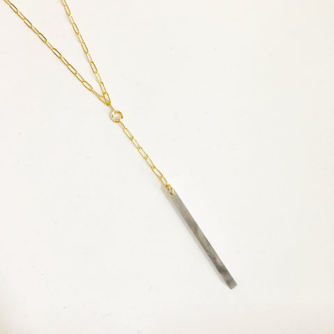 Derby 14kt Goldfill and Acetate Necklace