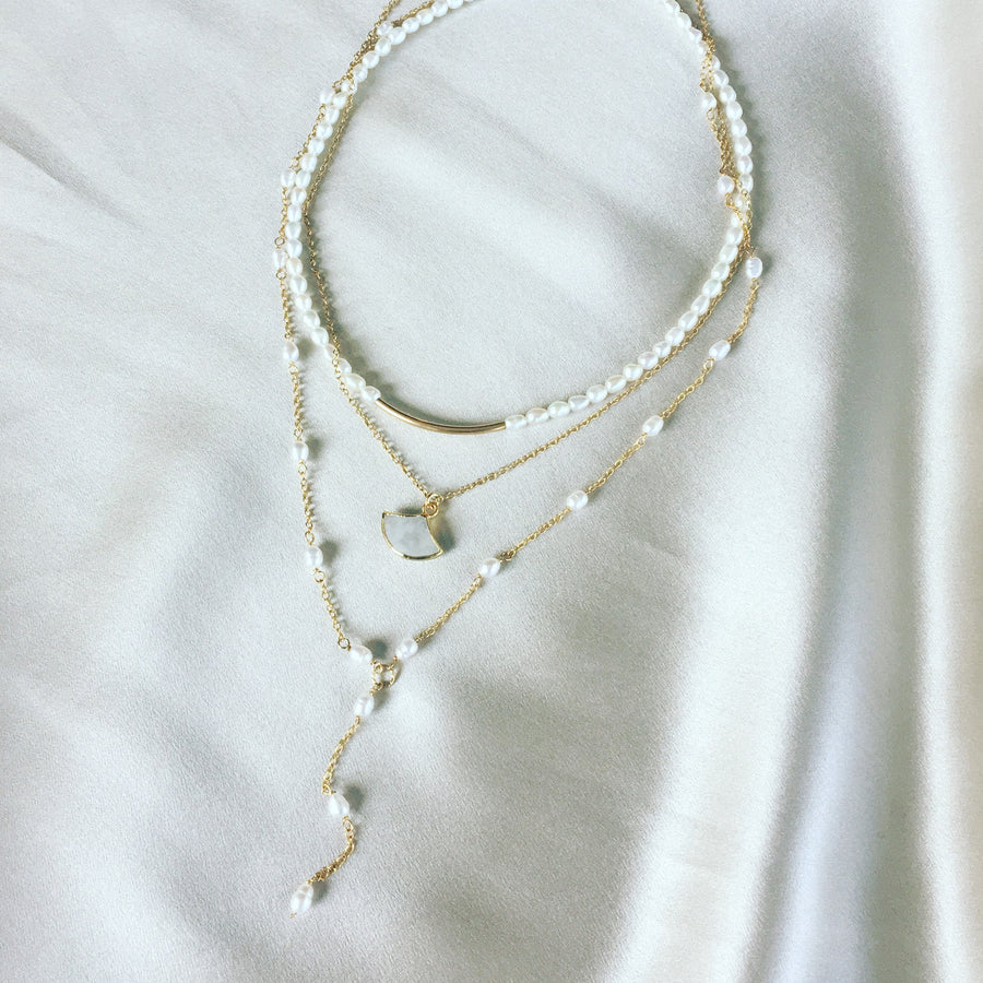 Cadence Freshwater Pearl and 14kt Goldfill Necklace