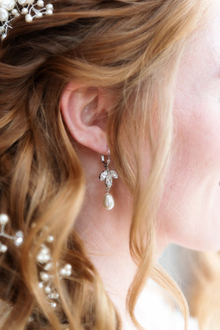 Tessa Pearl Bridal Earrings