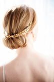 Gold boho bridal headband