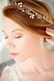 Bridal hairvine Swarovski Crystals Pearls bridal hair