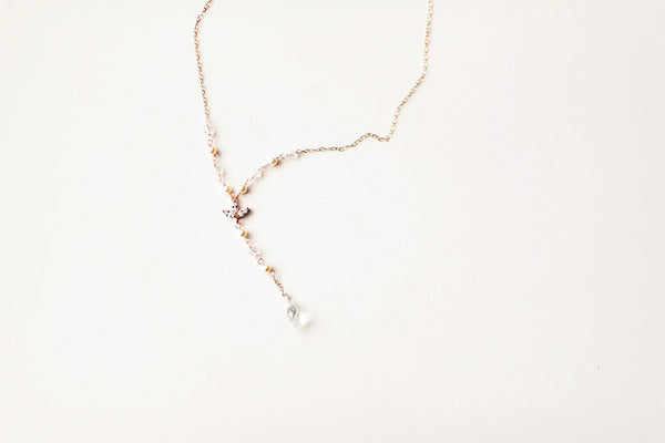 Bridal y necklace swarovski crystals and pearls