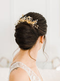 Jacqueline Crystal and Pearl Haircomb