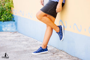 Corkys Shoes - Babalu Blue Plaid Sneaker