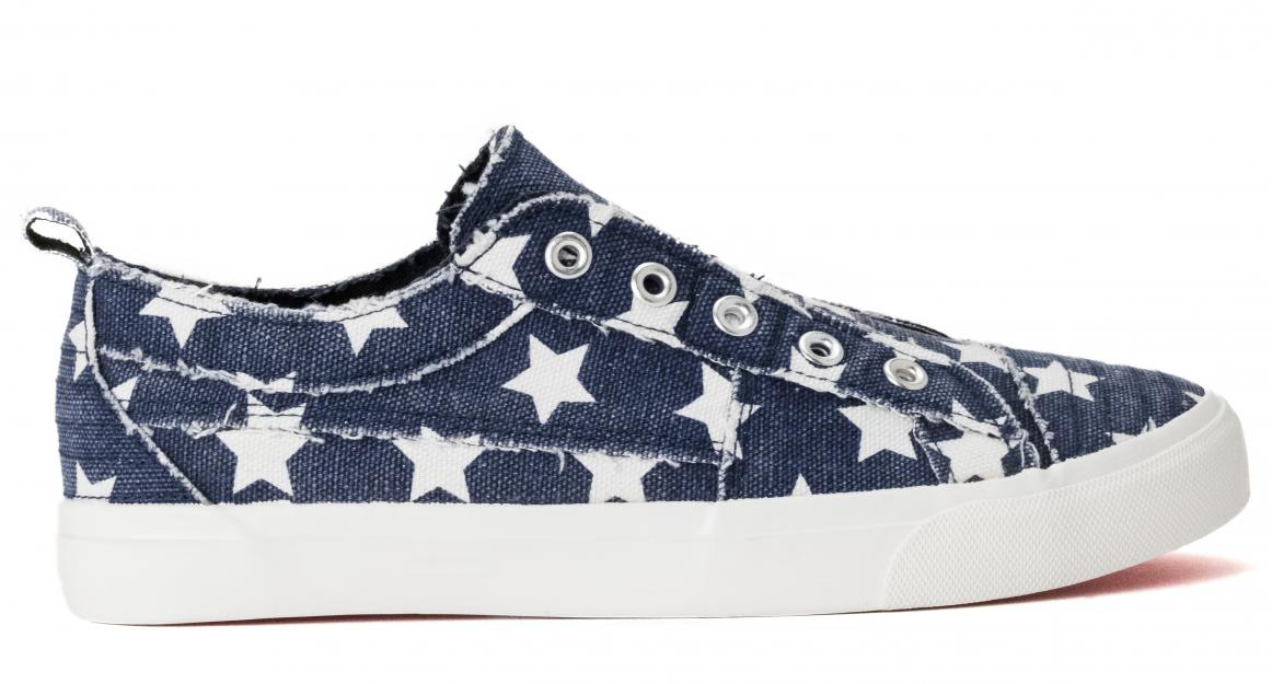 Corkys Shoes - Babalu Navy Stars Sneaker