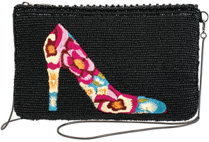 Mary Frances In Step Beaded Crossbody Phone Bag