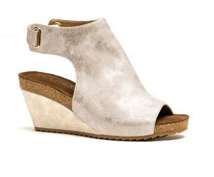 Corkys Shoes - Calypso Gold Metallic Wedge